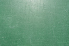 Texture of the surface of the green school board is covered with a lot of scratches from writing with chalk Stock Photo