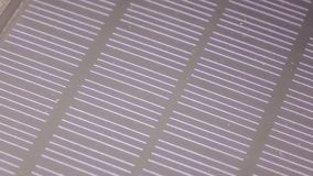 The texture of the solar battery. The texture of the surface of the solar old battery power source stock video