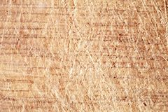 The texture of the surface of the wood with scratches. Royalty Free Stock Image