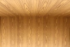 Texture of teak wood floor and wallpaper background Royalty Free Stock Images