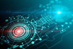 Texture, technologie et hologramme d'affaires de Digital Photo stock