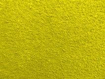 Texture terry fabric closeup - yellow royalty free stock photo