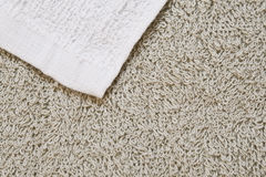 Texture of terry towel. Texture of beige terry towel Royalty Free Stock Photography