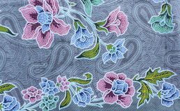 Texture of thai fabric Stock Photos