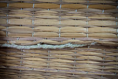 Texture thai mat background. Royalty Free Stock Images