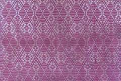 Texture of Thai style silk Royalty Free Stock Images