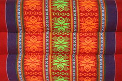 Texture of Thai style textile on pillow Stock Images