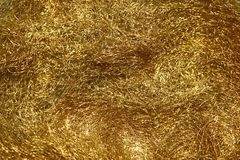 Texture of thin gold metal wire suitable for luxurious design stock photos