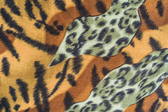 Texture of tiger striped fabric Royalty Free Stock Images