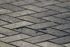 Texture tile paved roadway Royalty Free Stock Image