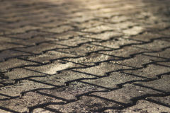 Texture tile paved roadway Royalty Free Stock Photo