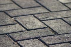 Texture tile paved roadway Stock Photos