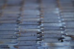 Texture tile paved roadway Royalty Free Stock Photography