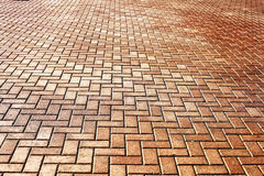 Texture tile paved roadway Stock Photography