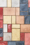 Texture of tiles brown multicolor Stock Image