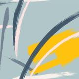 Texture tirée par la main géométrique contemporaine de triangle de vecteur Carte de fantaisie de Memphis de hippie Années 90 de t illustration libre de droits