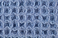 Texture tissée bleue lâche Images stock
