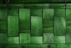 Texture tissée par vert Photos libres de droits