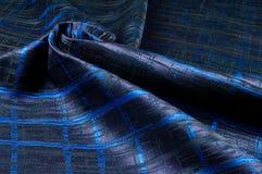 Texture, tissu, fond Tissu de laine Rayures bleu-foncé Bl Image libre de droits