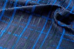 Texture, tissu, fond Tissu de laine Rayures bleu-foncé Bl Photo libre de droits