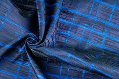 Texture, tissu, fond Tissu de laine Rayures bleu-foncé Bl Images libres de droits
