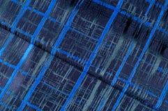 Texture, tissu, fond Tissu de laine Rayures bleu-foncé Bl Photographie stock libre de droits
