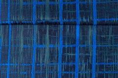 Texture, tissu, fond Tissu de laine Rayures bleu-foncé Bl Photographie stock