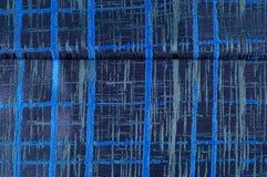 Texture, tissu, fond Tissu de laine Rayures bleu-foncé Bl Image stock
