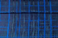 Texture, tissu, fond Tissu de laine Rayures bleu-foncé Bl Photos libres de droits