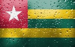 Texture of Togo flag royalty free stock images