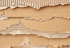 Texture of torn cardboard Stock Photo
