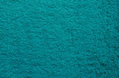 Texture of Towel Fabric. Texture of green towel fabric in close up for texture background used Royalty Free Stock Photography