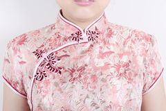 Texture of traditional chinese dress Royalty Free Stock Photos