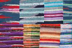 Texture of traditional colorful rug textile. Ethnic design Royalty Free Stock Images