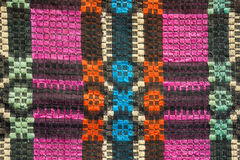 Texture of traditional colorful rug textile. Ethnic rustic carpe Royalty Free Stock Photo