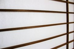 Traditional shoji screen. Texture of translucent Shoji screen, traditional Japanese partition door Stock Images