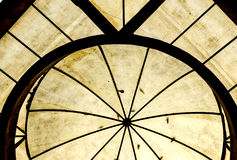 Texture of transparent domed roof Stock Images