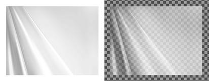 Texture transparente blanche de rideaux illustration de vecteur