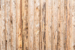 The texture of the tree, the wall, the floor are made of natural wood, the boards have poor-quality processing, many fibers. And knots, vertical orientation stock image