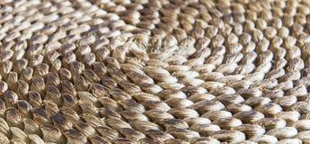 Texture tressée circulaire de paille Photo stock