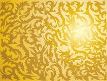 Texture tribale d'or Photographie stock libre de droits