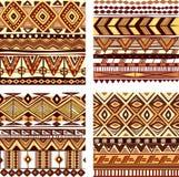 Texture tribale sans couture de couleur Image stock