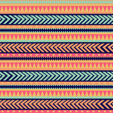 Texture tribale sans couture. Modèle tribal. Rayé ethnique coloré Images libres de droits
