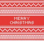Texture tricotée avec l'ornement du nord Fond de vecteur Joyeux Noël illustration libre de droits