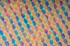 Texture tricotée colorée de tissu, lignes diagonales image libre de droits
