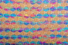Texture tricotée colorée de tissu, traits horizontaux photos libres de droits