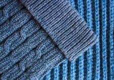 Texture tricotée d'écharpe et de chapeau image stock