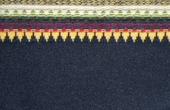 Texture tricotée de tissu Images libres de droits