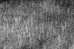 Texture tricotée en noir et blanc Images stock