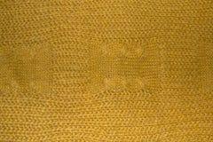 Texture tricotée jaune lumineuse image stock